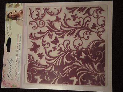Crafters Companion: Embossing Folder: Butterfly Lullaby: Bijou Butterflies 6x6