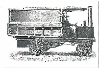 Thornycroft Steam Wagon Built For Fullers Brewery. Repro Printed Postcard