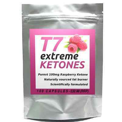 100 T7 EXTREME RASPBERRY KETONES 100mg strongest diet pills SLIMMING/WEIGHT LOSS
