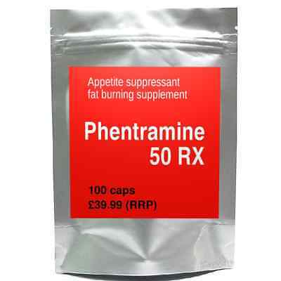 100 PHENTRAMINE 50mg RX strong diet pills SLIMMING/WEIGHT LOSS thermo fat burner