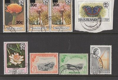 SWAZILAND Mostly used range, 2 scans, cards not included.