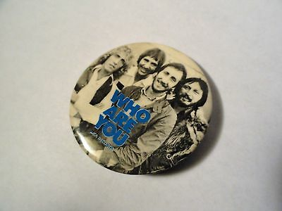 "Vintage 1978 - The Who - ""Who Are You"" - MCA Records 2"" Promo Button/Pin"