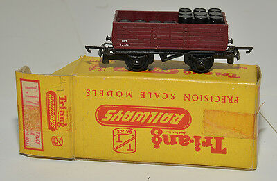 Triang Tt  Boxed T177 Open Wagon With Oil Load Maroon