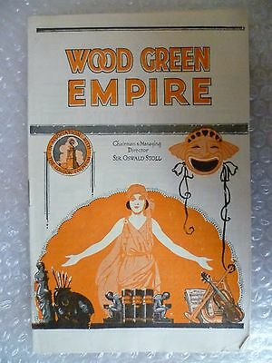 1928 Wood Green Empire Programme YES SIR-Teddy Morris,J H Cleve,Sir Oswald stoll