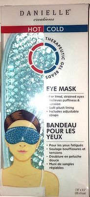 Danielle Creations Hot and Cold Therapeutic Gel Beads Plush Eye Mask  New in Box