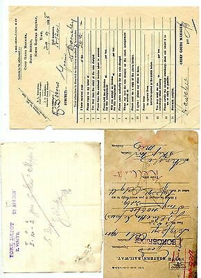 North Eastern Railway - 50 items of paperwork