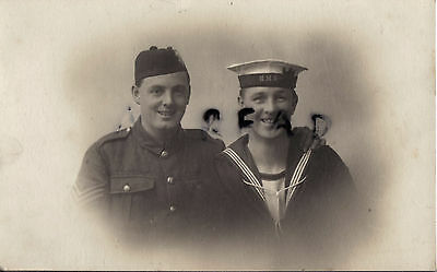 WW1 soldier Sgt Black Watch Royal Highlanders Sailor Royal Navy