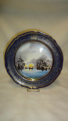 Limited Edition Spode Armada Series Collector Plate No4 Showing The Fireships