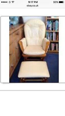 Glider Rocking Maternity Feeding Chair And Rocking Footstool