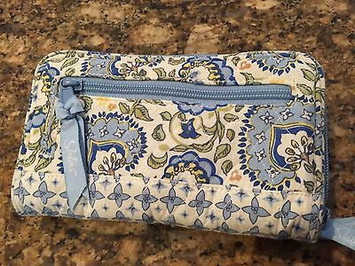 NEW LONGABERGER Sisters Ziparound Wallet * Earth & Sky Fabric * Retired