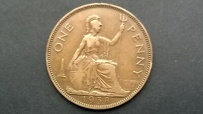One Penny Coin 1938 George -VI