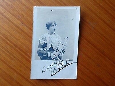 Vintage* Lady with Violin and Bow. Rotary Post Card. 25th February 1904.