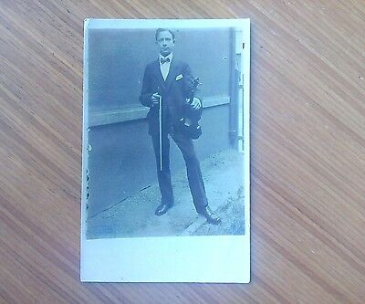 Vintage* Gentleman with Violin and Bow. Edwardian.