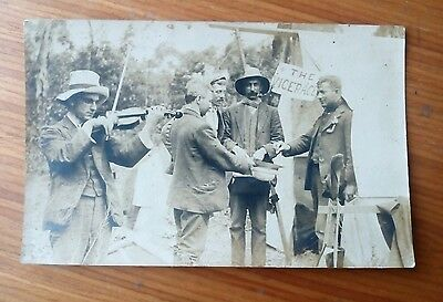 Vintage* Group of Men, one with Violin and Bow. The Vicarage. Collection Hat.