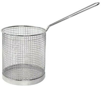 "Stainless Steel Frying Scampi Basket Spaghetti Pasta Basket Catering 6"" x 6"""