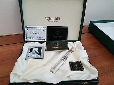 "Conway Stewart Churchill Pen box with COA.  Empty. 2 3/8"" T, 11 1/2""W, 8 3/4""D"