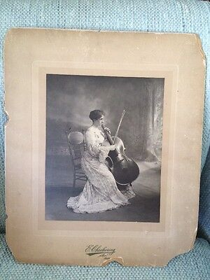 Vintage Photo & Hand Written Story By Laura Tolman Kilgore Cellist Re: Giovanni