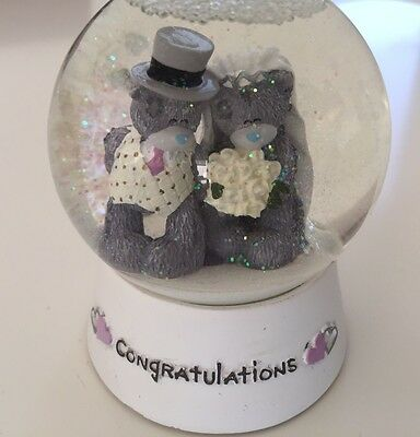 Me To You Congratulations On Your Wedding Snow Globe