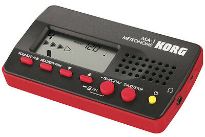 Korg - Ma-1 Black Red Accordatore/metronomo Digitale Nero E Rosso