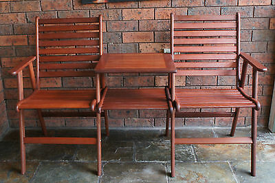 TIMBER JACK AND JILL GARDEN BENCH with CUSHIONS