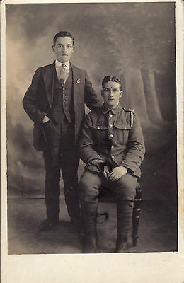 WW1 soldier & Discharged soldier ? RWF Royal Welsh Fusiliers