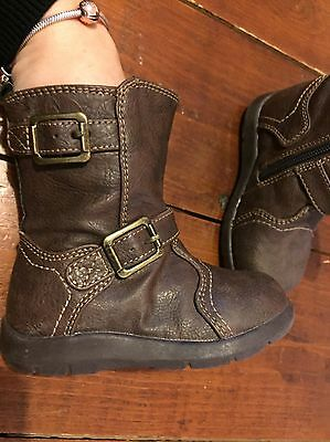 Mothercare Boots Girl/boy Brown Size 21 1/2 Or  UK 5