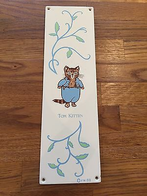 Beatrix Potter Painted Door Push Plate Tom Kitten Tricia Clark Jane Churchill