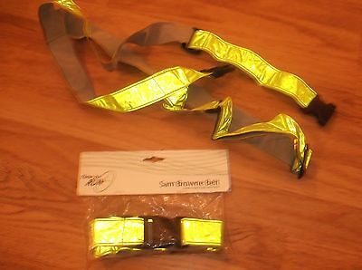 High Visability Belts x 2 - Fitness, Running, Jogging and Cycling