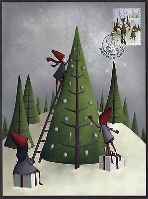 Aland Islands; 2016 Christmas maxicard with Christmas stamp