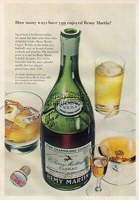 1956 Remy Martin Champagne Cognac Brandy cocktail ad