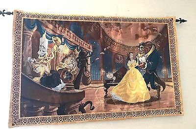 New Disney Park Beauty and the Beast Tapestry Wall Hanging Tale As Old As Time