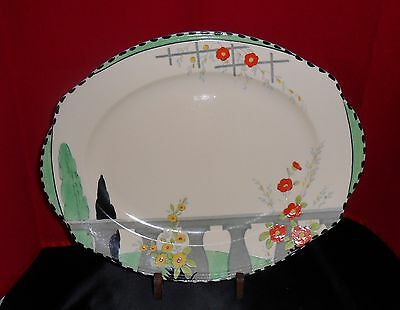 "Art Deco Burleigh  Oval Plate ""riviera"" Pat.5088"
