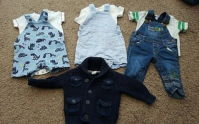 Baby boys 3-6 months Dungaree outfits clothes bundle