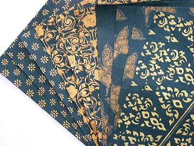 12 pcs.HANDMADE THIN MULBERRY WRAPPING PAPER SHEET CARD SCRAPBOOK THAI PATTERN