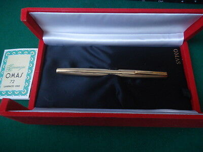 Old Omas Fountain pen goldplated. Nib 14k solid gold