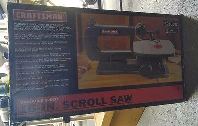 Craftsman Scroll Saw 16 Inch Heavy Duty Kit Variable Speed Wood Tools