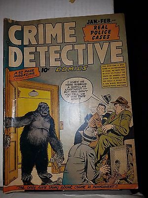 Crime Detective Comics Vol.1 #6 - Hard to Find Golden Age Comic, VG Condition