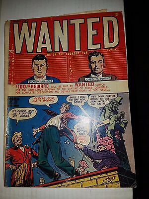 Wanted Comics #19 - Golden Age Crime Comic, G/VG Condition