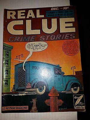 Real Clue Crime Stories Vol.3 #10, FN Condition, Golden Age