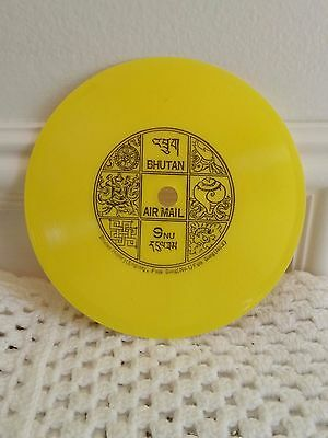 Bhutan Phonograph Record Stamp Never Used
