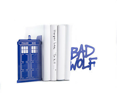 Atelier Article - Gift Steel bookends - Doctor Who Bed Wolf Police Box (Blue)