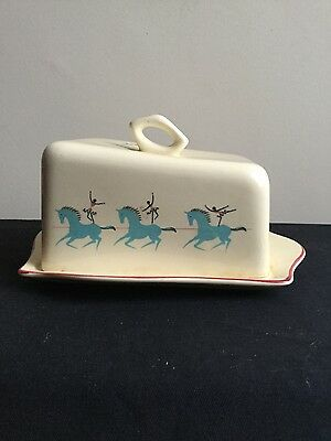 Vintage 1950s Beswick Circus Pattern butter/ cheese dish