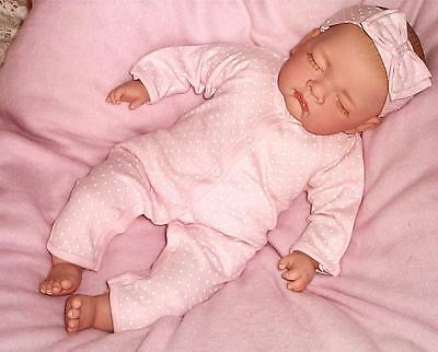 Adorable Sleeping Reborn Baby Girl Doll Child Friendly + Magnetic Dummy