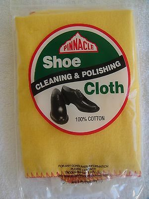 Pinnacle shoe cleaning polish dust cloth 100% cotton sealed in manufacturers pac