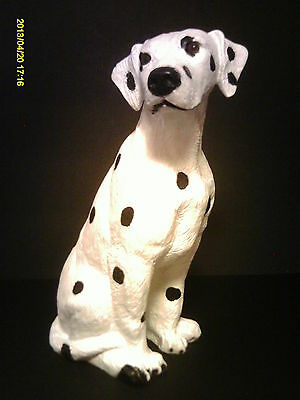 """Really Sweet DALMATIAN STATUE Tabletop Dog 13"""" tall"""