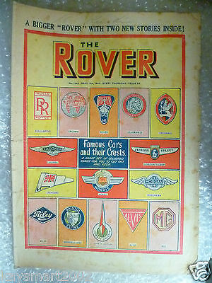 THE ROVER Comic, No.1262, 3rd Sept 1949