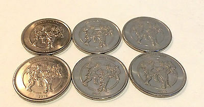 Canadian Tire 2010 Skating Dollar Coin Pack of 6