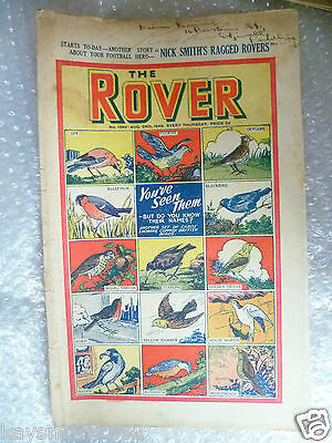 THE ROVER Comic, No.1260, 20th Aug 1949