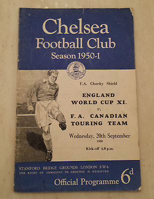1950 Charity Shield: ENGLAND v CANADIAN TOURING TEAM @ CHELSEA