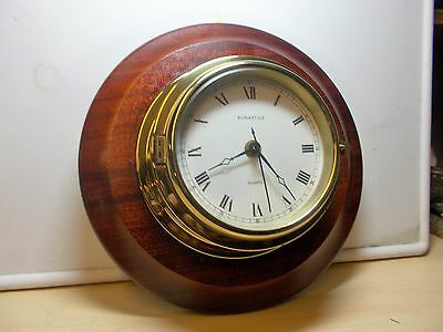 Antique style ships brass clock, G.W.O.